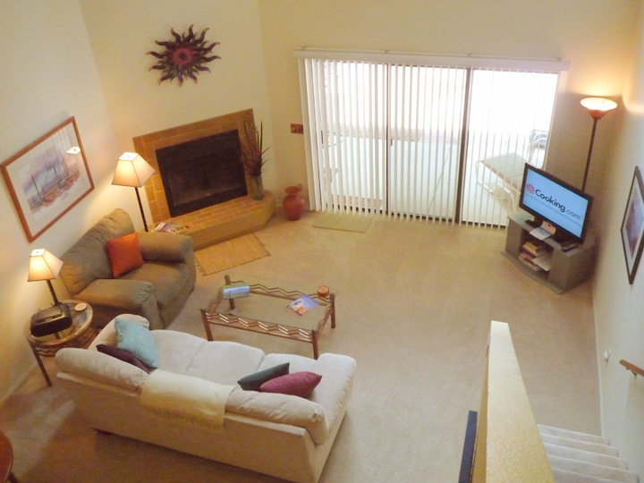 Living room view from the loft master bedroom